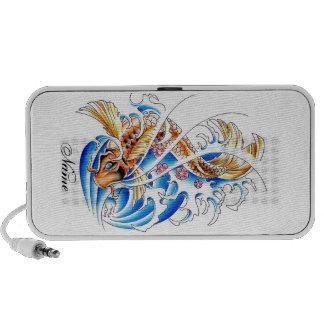 Refresque el tatuaje oriental del agua de pescados iPod altavoz