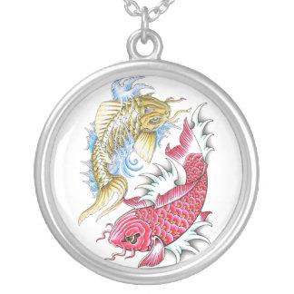 Refresque el tatuaje rojo de Yin Yang del oro de l Colgante Redondo