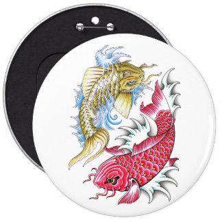 Refresque el tatuaje rojo de Yin Yang del oro de l Pin Redondo 15 Cm