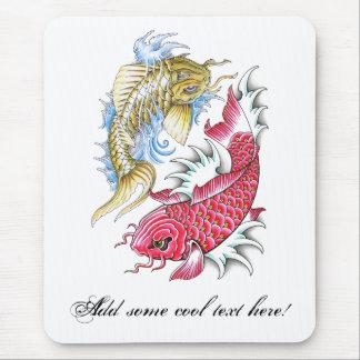 Refresque el tatuaje rojo de Yin Yang del oro de l Tapetes De Raton