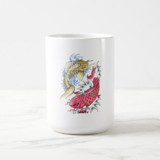 Refresque el tatuaje rojo de Yin Yang del oro de l Taza Básica Blanca
