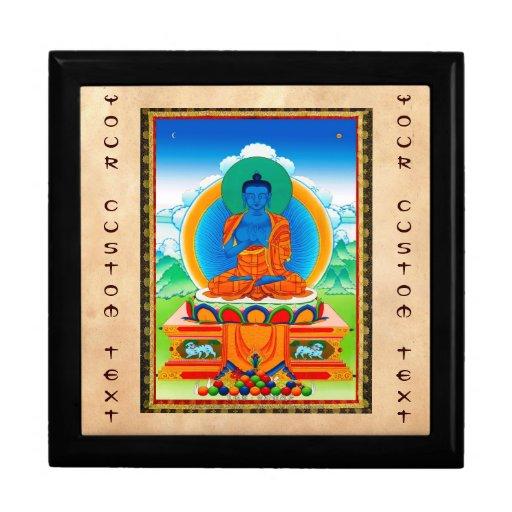 Refresque el thangka tibetano oriental DaZ i Zai F Caja De Recuerdo