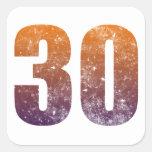 Refresque el trigésimo regalo de cumpleaños calcomania cuadradas personalizadas