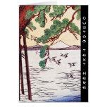 Refresque la escena japonesa de los pájaros del ár tarjeton
