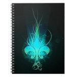 refresque la flor lis del drenaje spiral notebook