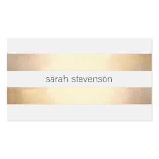 Refresque la hoja de oro real rayada oro simple de tarjeta de visita