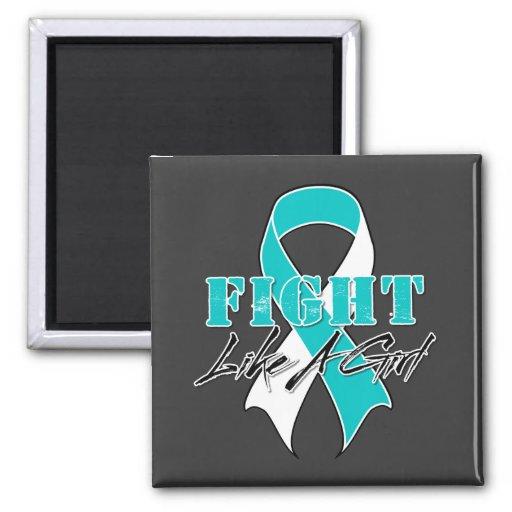 Refresque la lucha como un cáncer de cuello del út imanes para frigoríficos