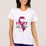 Refresque la lucha como un cáncer de garganta del camisetas