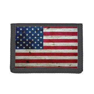 Refresque la madera apenada de la bandera american