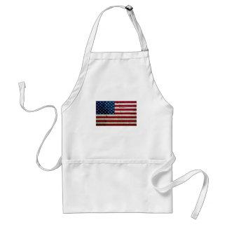 Refresque la madera apenada de la bandera american delantal