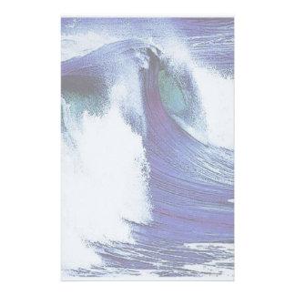 Refresque la onda papelería personalizada