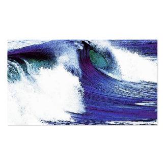 Refresque la onda tarjetas de visita