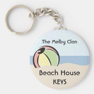 Refresque la 'pelota de playa colorida de N Llavero Redondo Tipo Pin