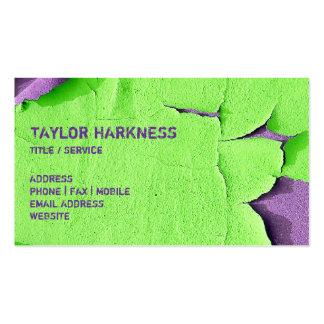 Refresque la pintura saltada que pela púrpura tarjetas de visita