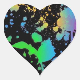 Refresque la salpicadura Deisgn Pegatina En Forma De Corazón