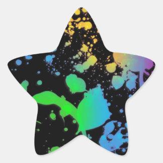 Refresque la salpicadura Deisgn Pegatina En Forma De Estrella