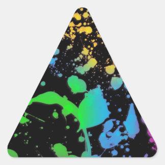 Refresque la salpicadura Deisgn Pegatina Triangular