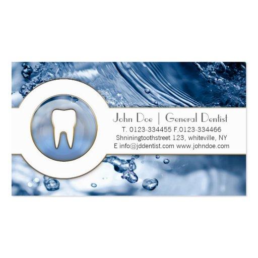 Refresque la tarjeta de visita dental del dentista