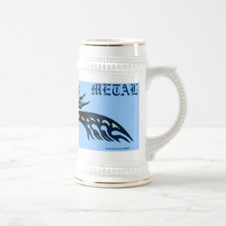 Refresque la taza de cerveza tribal del arte gráfi