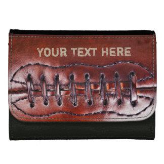 Refresque las carteras personalizadas del fútbol