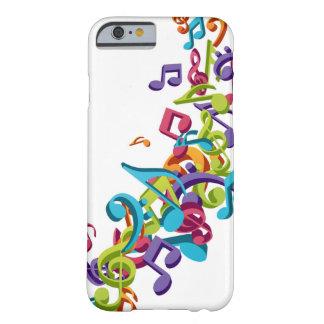 refresque las notas coloridas de la música y suena funda para iPhone 6 barely there