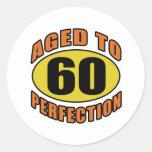 Refresque los 60.os regalos de cumpleaños etiquetas redondas