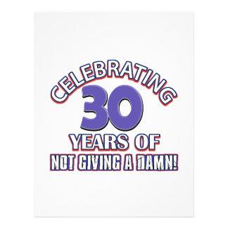 Refresque los diseños 30 años membrete