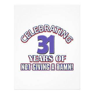 Refresque los diseños 31 años plantillas de membrete