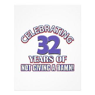 Refresque los diseños 32 años membrete