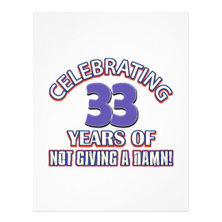 Refresque los diseños 33 años plantillas de membrete