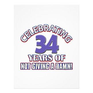 Refresque los diseños 34 años membretes personalizados