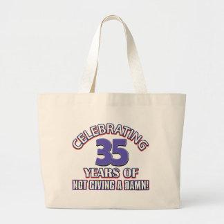 Refresque los diseños 35 años bolsa tela grande