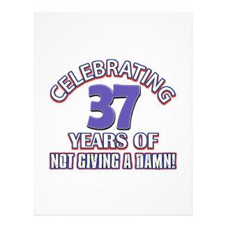 Refresque los diseños 36 años membrete