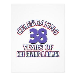 Refresque los diseños 38 años membrete a diseño