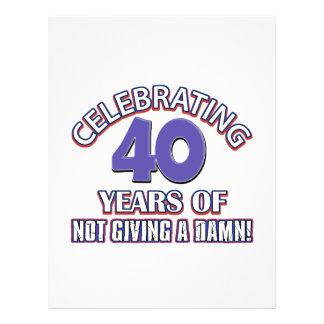Refresque los diseños 40 años membrete a diseño