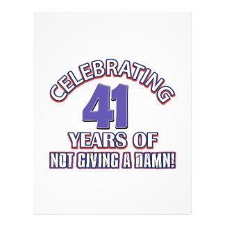 Refresque los diseños 41 años membrete a diseño