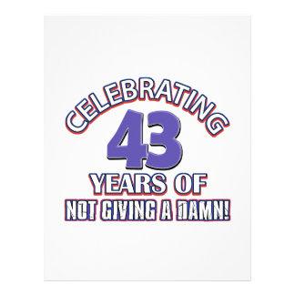 Refresque los diseños 43 años membrete a diseño