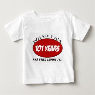 refresque los diseños del cumpleaños de 101 años poleras