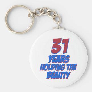 refresque los diseños del cumpleaños de 31 años llaveros