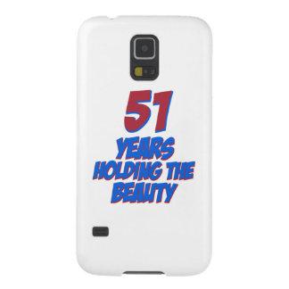refresque los diseños del cumpleaños de 51 años fundas para galaxy s5