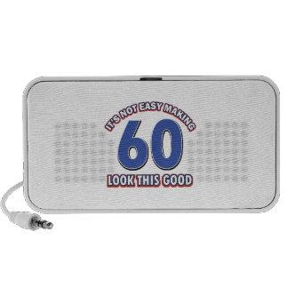 Refresque los diseños del cumpleaños de 60 años iPod altavoces