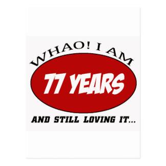 refresque los diseños del cumpleaños de 77 años postales