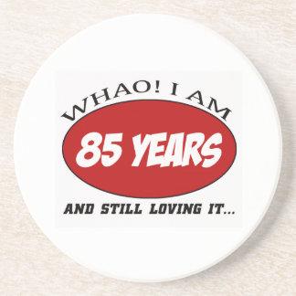 refresque los diseños del cumpleaños de 85 años posavasos manualidades