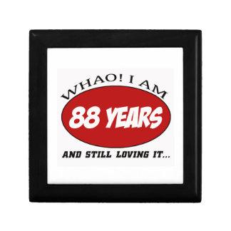 refresque los diseños del cumpleaños de 88 años cajas de recuerdo