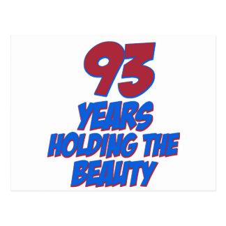 refresque los diseños del cumpleaños de 93 años postal