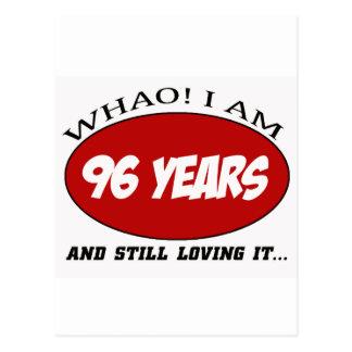 refresque los diseños del cumpleaños de 96 años tarjetas postales