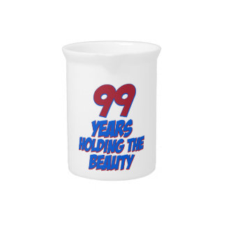 refresque los diseños del cumpleaños de 99 años jarra
