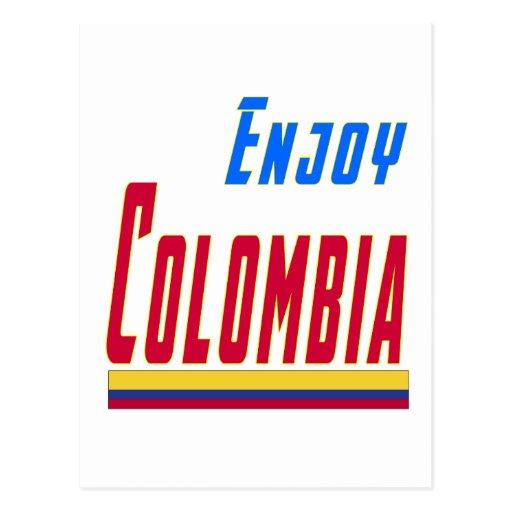 Refresque los diseños para Colombia Tarjeta Postal