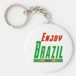Refresque los diseños para el Brasil Llavero Personalizado
