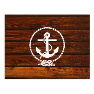 Refresque los efectos de madera náuticos del grung postales